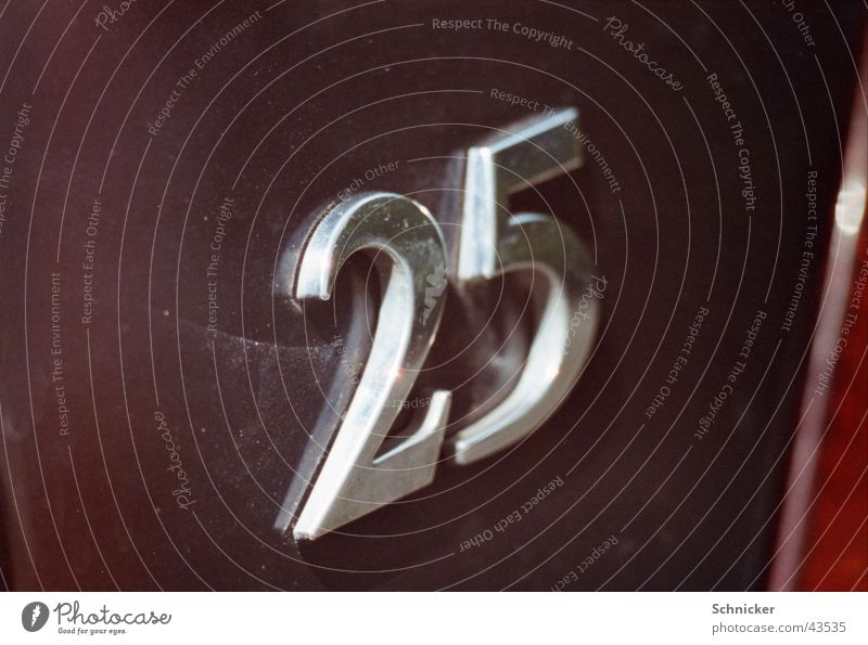 25 Digits and numbers Things 2525 Car