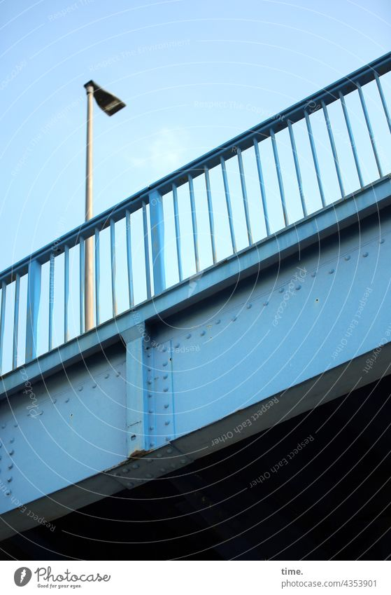 Stories from the Fence (105) Bridge Metal Blue Sky Protection Safety Steel Historic Lamp streetlamp rail