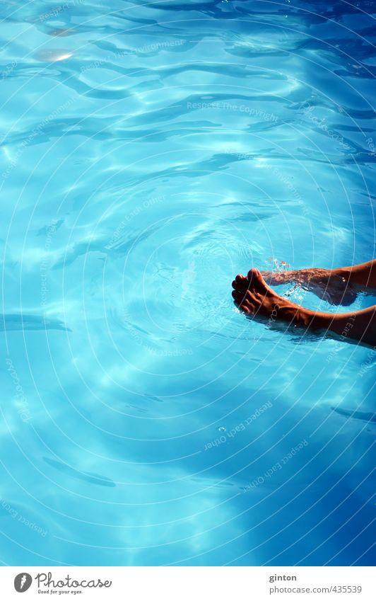 Human being Woman Blue Beautiful Joy Adults Sports Feminine Playing Happy Swimming & Bathing Healthy Feet Body Leisure and hobbies Glittering