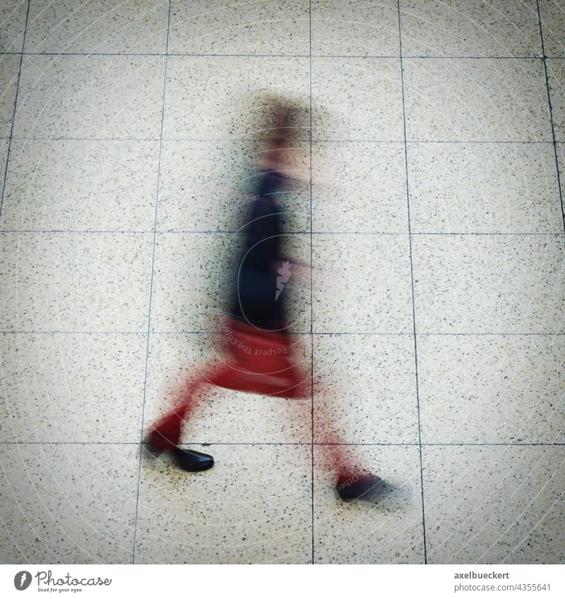 shadowy pedestrian in motion Hazy Movement motion blur Pedestrian Going person Unrecognizable blurred hazy Abstract blurriness Street Lifestyle Speed Haste