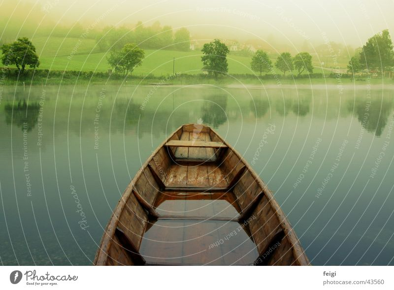 boat over lake Watercraft Lake Fog