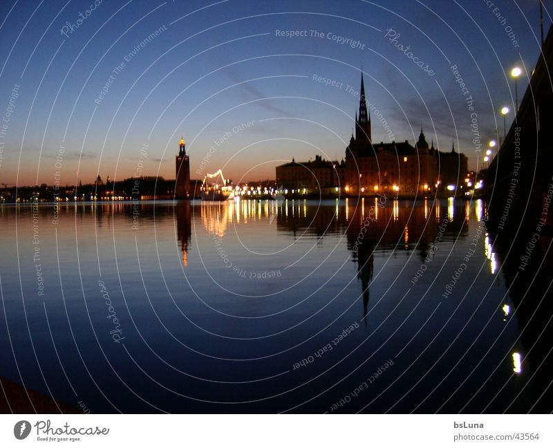 Water Lake Europe Skyline Sweden Scandinavia Stockholm Gamla Stan
