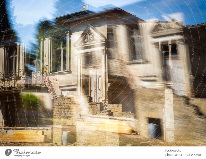 Stylish house not exactly, only vaguely House (Residential Structure) Architecture Double exposure Facade Entrance Style Sky Reaction Abstract Surrealism