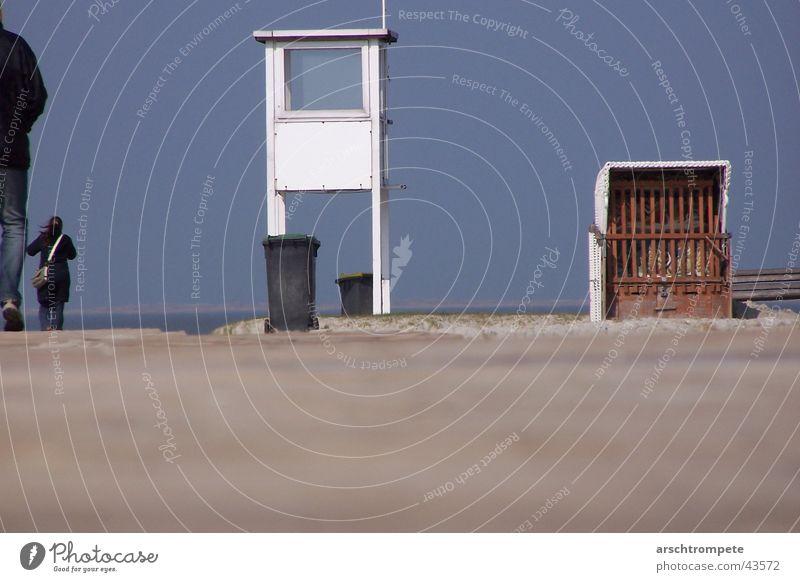 beach skyline Beach Ocean Beach chair Europe Sky Blue Sand