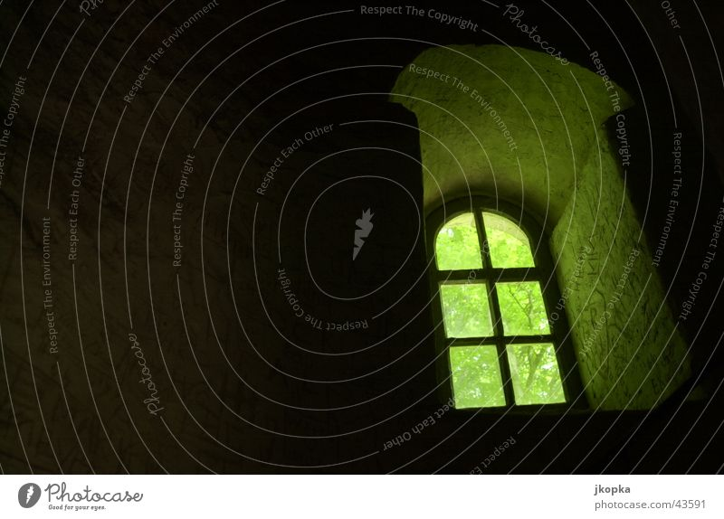 the window Tower Architecture Window Dark Hope Fear Captured Penitentiary Colour photo Shadow Contrast Silhouette Back-light