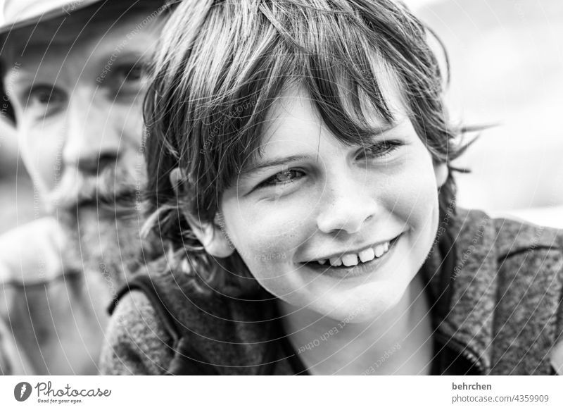 a laugh from you. makes my heart leap to the brim. and grasp happiness. cheerful Happiness Close-up Sunlight Face Happy Facial hair Child Boy (child) portrait