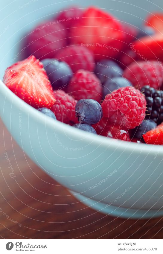 Forest fruit red. Art Esthetic Contentment Bowl Raspberry Blueberry Blackberry Strawberry Redcurrant Breakfast table Morning break Healthy Healthy Eating