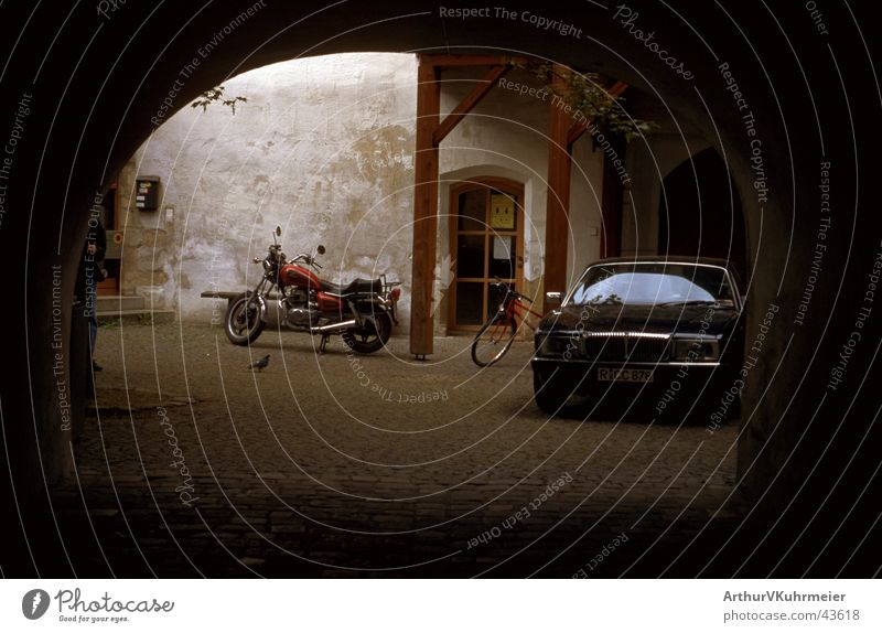 Car Transport Stand Motor vehicle Motorcycle Parking Backyard Archway
