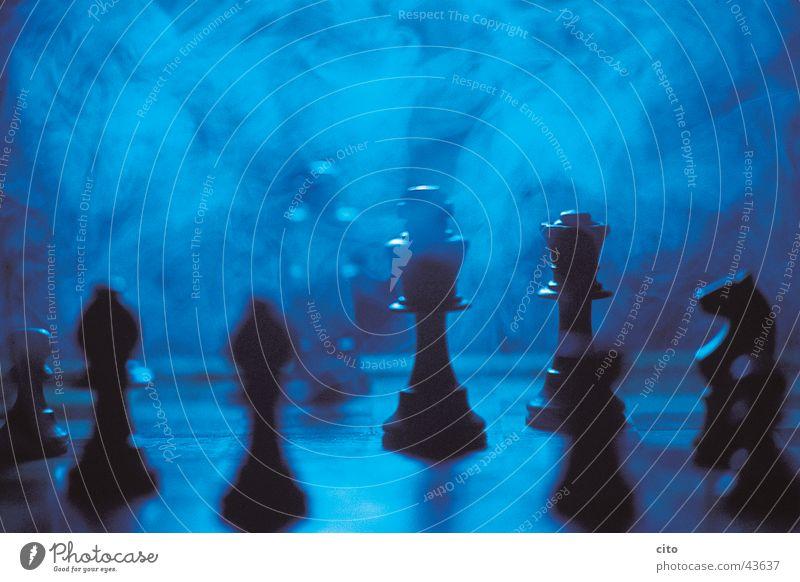 Chess matt Fog Chessboard Think Dark Black Light Night Smoke Blue ponder Detail Tower Chess piece