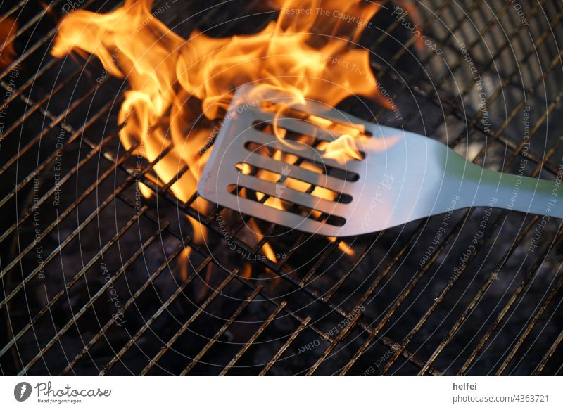 Charcoal grill with open fire and pans Neither of which lies on the grill grate BBQ Grill Barbecue (apparatus) Fire BBQ season Embers Charcoal (cooking) Hot