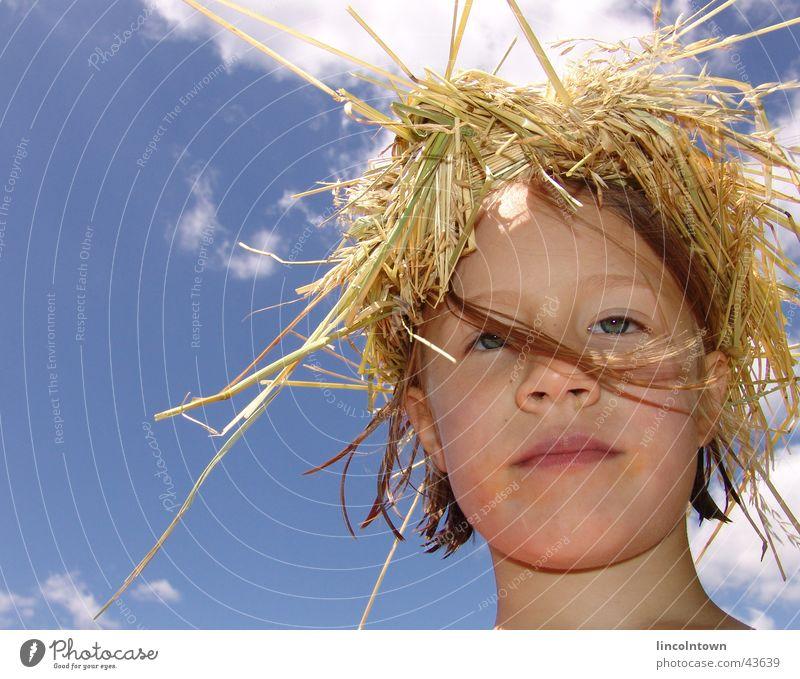 jule Straw Summer Child Face Sky