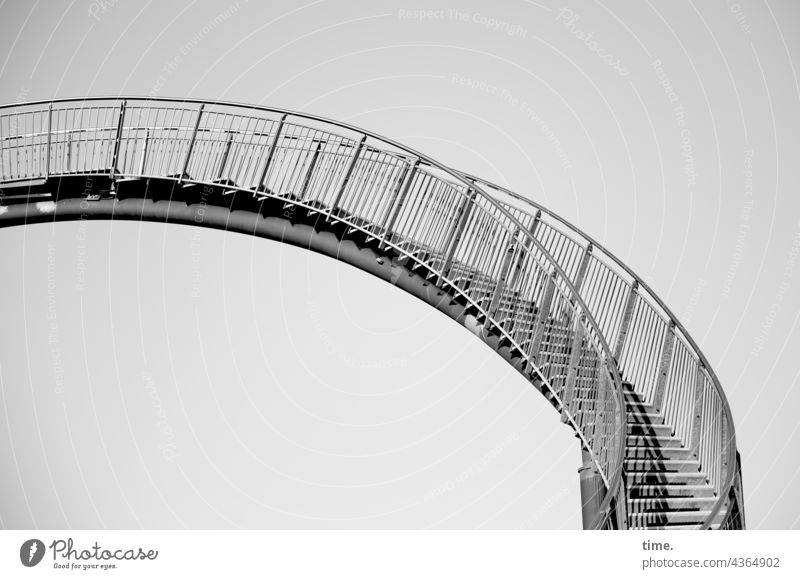 Stages of art Stairs Work of art Steel Metal Arch vibration Tiger and Turtle rail Banister Architecture Manmade structures