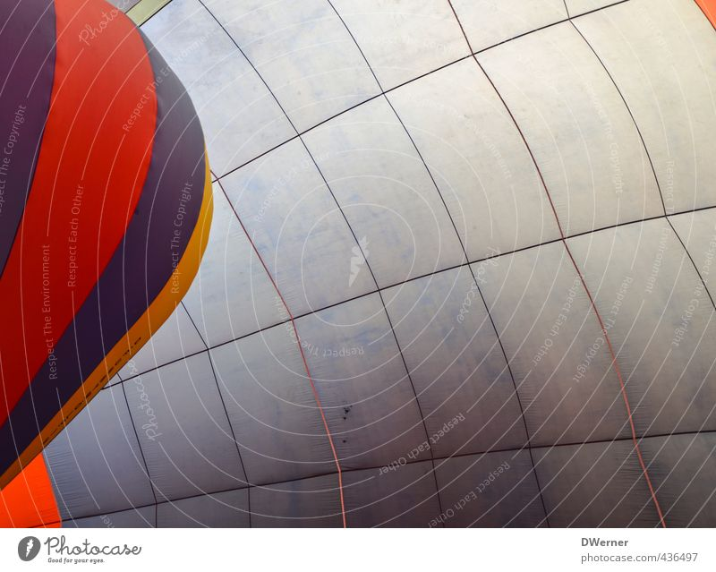 Balloon in a balloon Lifestyle Leisure and hobbies Tourism Trip Freedom Aviation Hot Air Balloon Stripe Net Network Flying Thin Large Blue Red Rope Cloth