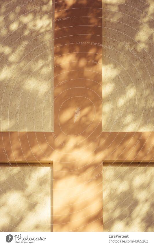 enlightenment Crucifix Facade Wall (building) Wall (barrier) Line Stripe Light Illuminate Church Shadow Light (Natural Phenomenon) Abstract Building