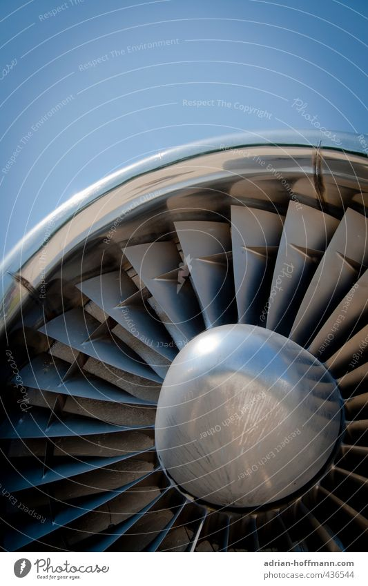 Sky Blue Gray Metal Air Flying Transport Free Aviation Airplane Technology Round Logistics Steel Airport Silver