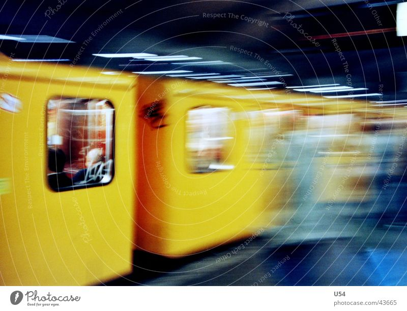 Yellow Train window Stress Slice Underground Obscure Rush hour Public transit Miss out Ski-run