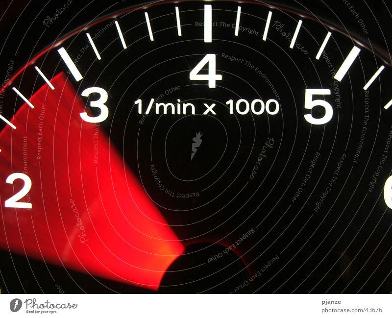 Car Transport Speed Acceleration Speedometer Rev counter