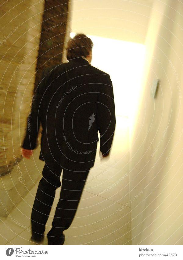 Uwe Schummer MdB at the Reichstag Tunnel Light Ignite Man Shadow Human being Reichstag fire Corridor