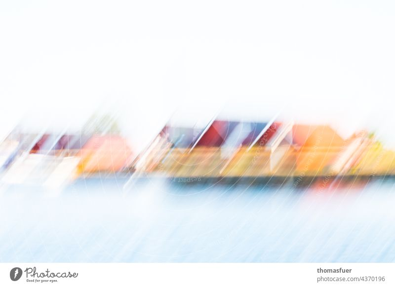 Swedish Summer Swede Ocean houses Fishermen's cottages Vacation & Travel Water coast Sky Scandinavia Day House (Residential Structure) Relaxation abstract