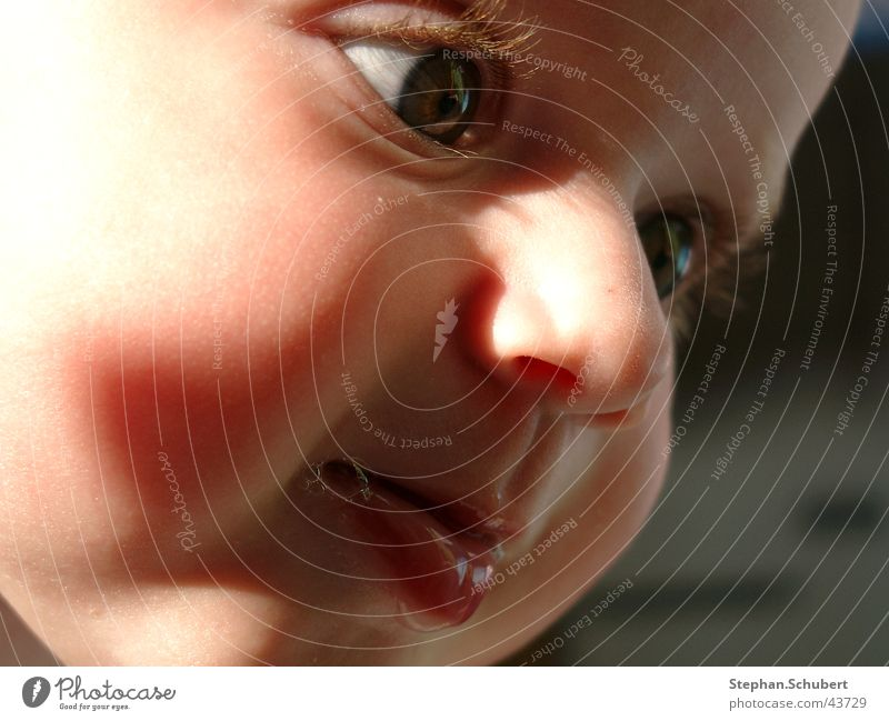 What are you looking at? Baby Toddler Lips Eyelash Fix Child Head Face Eyes Nose Mouth Shadow Detail Looking