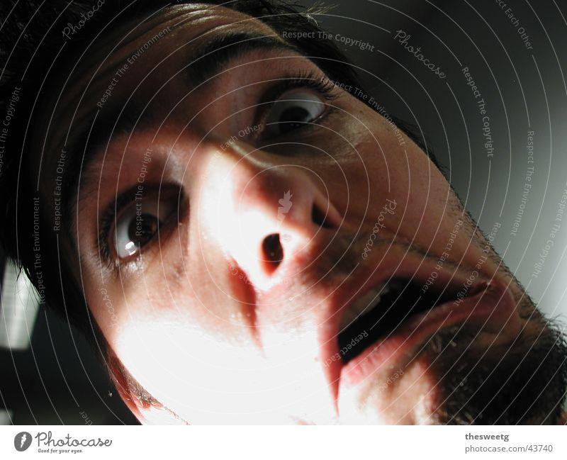 Man Face Fear Creepy Smoke Panic Comic Grimace Horror Frightening Salto Shock Alarm Clever Terror Slapstick