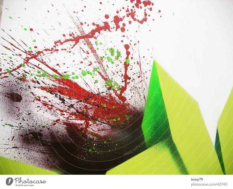 Green Graffiti Trade fair Exhibition Spray Projection screen