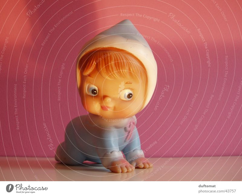 I know I'm so cute Joy Children's room Baby Toddler Infancy Toys Squeak duck Kitsch Cute Sweet Pink Light blue Rubber Sincere trashy big eyes Stopper honeyed