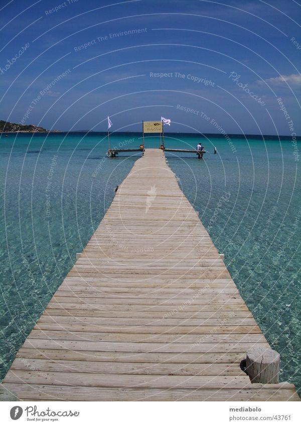 Bridge into Blue Corsica Beach Turquoise Physics Footbridge France Europe giulia Mediterranean sea Bay Warmth Corse