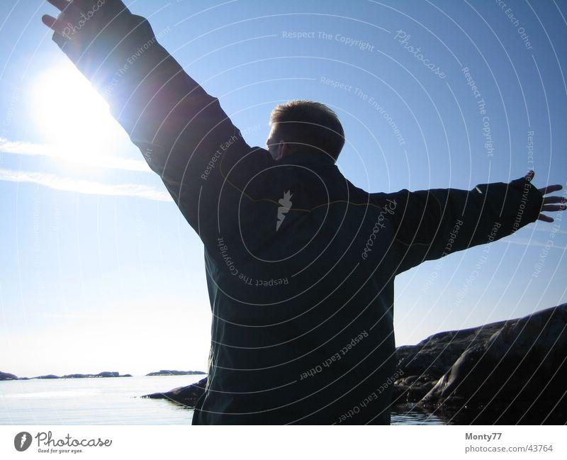 Man Sky Ocean Vacation & Travel Far-off places Freedom Horizon Infinity