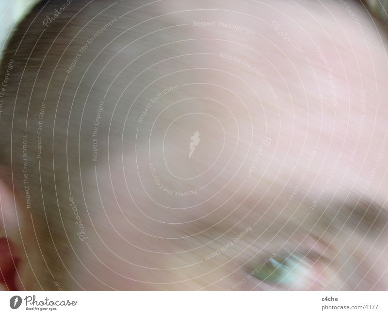 Human being Face Eyes Escape Distorted