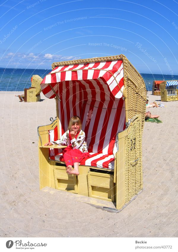Sun Ocean Summer Beach Lake Europe Baltic Sea Beach chair