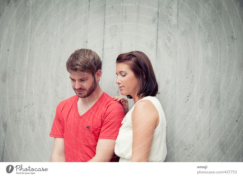red white Masculine Feminine Young woman Youth (Young adults) Young man Brothers and sisters Friendship Couple Partner 2 Human being 18 - 30 years Adults