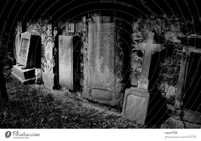 White Black Dark Death Stone Historic Mystic Cemetery Grave Tombstone