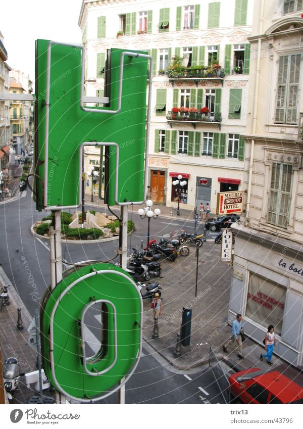 hotel in nizza Hotel Town Word Letters (alphabet) Nice France Green House (Residential Structure) Vacation & Travel Europe Characters Car Old