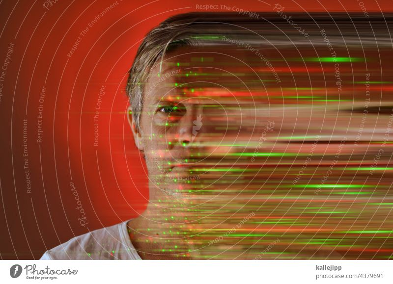 biometrics biometric data biometric recognition biometric passport Data Data protection digitization Digital Face Man Human being Looking into the camera Safety