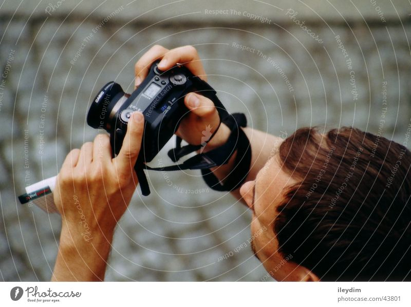 Man Photography Observe Motive Viewfinder