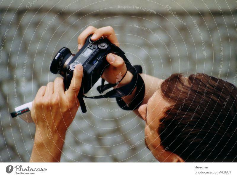 photographer Photography Bird's-eye view Motive Viewfinder Man Observe motif