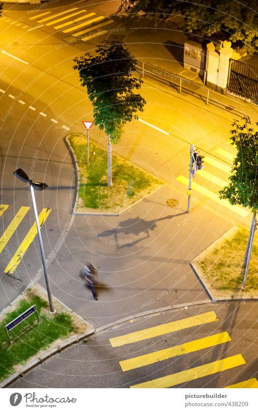 An island Human being Masculine Man Adults 1 Town Downtown Pedestrian Crossroads Road junction Sidewalk Zebra crossing Going Exceptional Sharp-edged Yellow