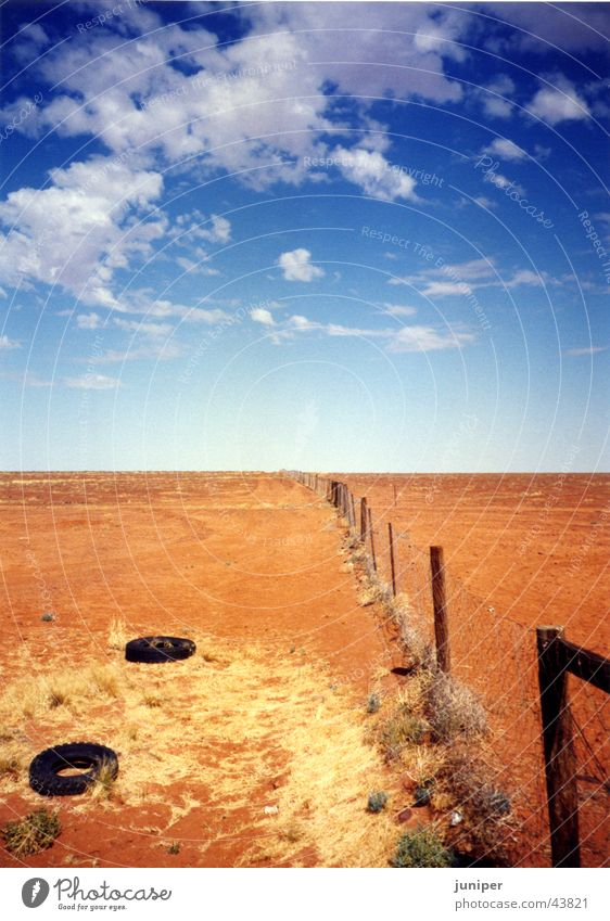 Sky Sand Perspective Desert Fence Australia Dog tooth