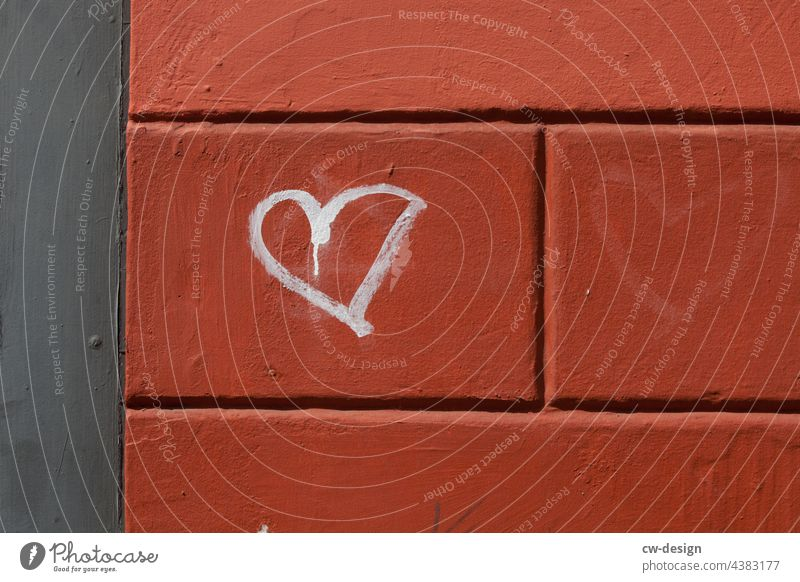 LOVE - a heart for $(§€!*ß - drawn & painted Welcome welcome culture Characters Colour photo Political movements political expression politically