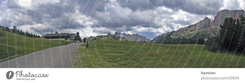Clouds Mountain Large Panorama (Format) Dramatic Dolomites