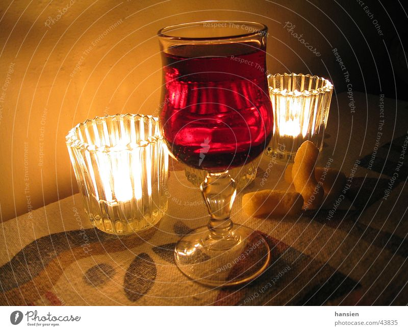 Vacation & Travel Moody Glass Candle Alcoholic drinks Red wine