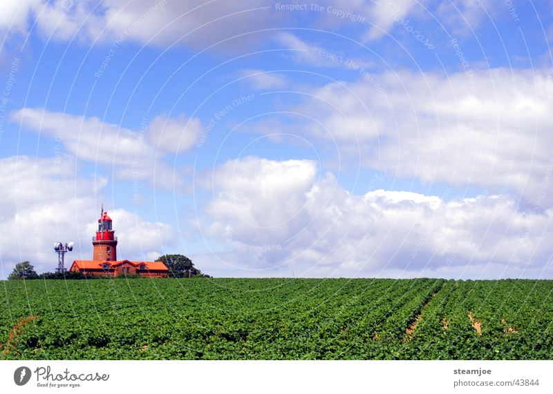 Lighthouse Bastorf near Kühlungsborn Mecklenburg-Western Pomerania Clouds Architecture Baltic Sea Landscape Graffiti bastard Watercraft