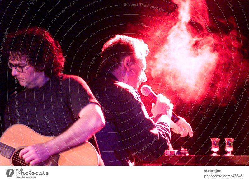 Night shift 1 Shift work Cigarette Night shot Concert Music comedy Fritz Eckenga Peter Krettek Guitar