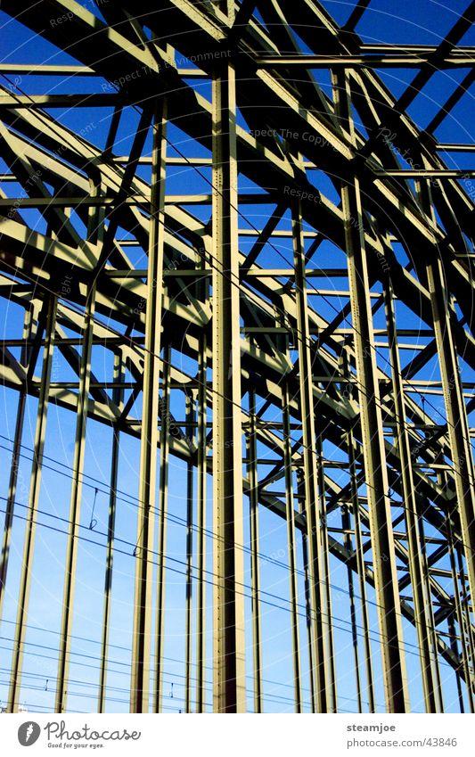 Hohenzollern bridge Cologne Hohenzollern Bridge Steel Railway bridge Detail