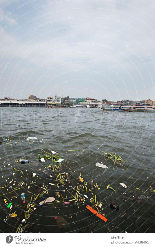 Environment River Asia Trash Thailand Capital city Environmental protection Environmental pollution Port City Bangkok South East Asia