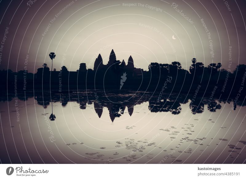 Angkor Wat, Siem Reap, Cambodia, Asia cambodia Angkor wat temple angkor ancient sunrise archeology architecture landmark heritage ruin lake tourism tropical