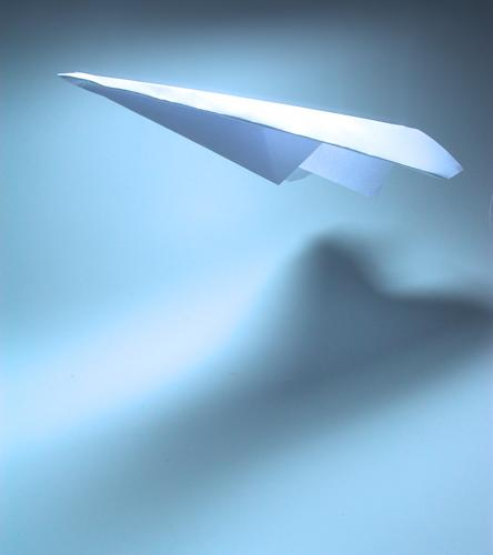 flying high Paper plane Airplane Hover Weightlessness White Antarctica Flying Blue