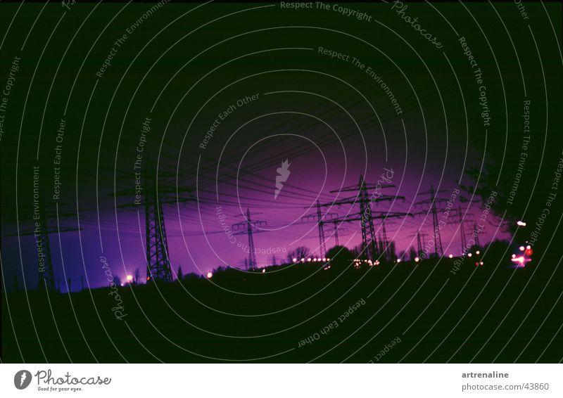 Lamp Horizon Industry Electricity Electricity pylon Electronic