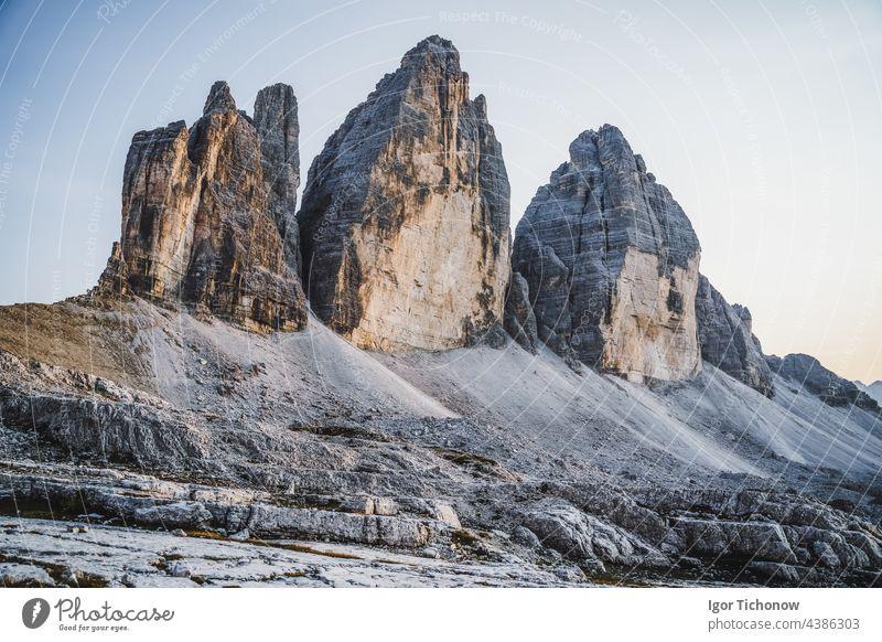 The Tre Cime di Lavaredo, in the Sexten Dolomites, Italy lavaredo three peaks mountain landscape nature alpine travel europe outdoor dolomiti park sextener